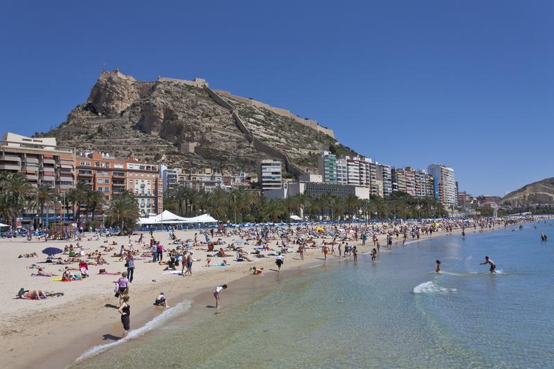Alicante Postiguet stranden