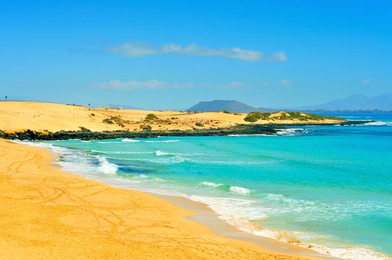 Corralejo er et fantastisk feriested på Fuerteventura, som hører til Kanariøyene.