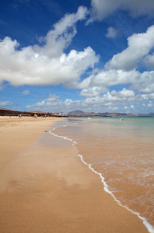 Nydelig strandbilde fra Jandia på Fuerteventura.