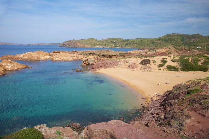 Stranden Pregonda på Menorca.
