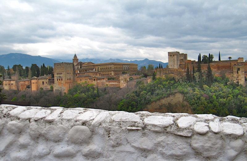 Det verdensberømte Alhambra-palasset i Granada.