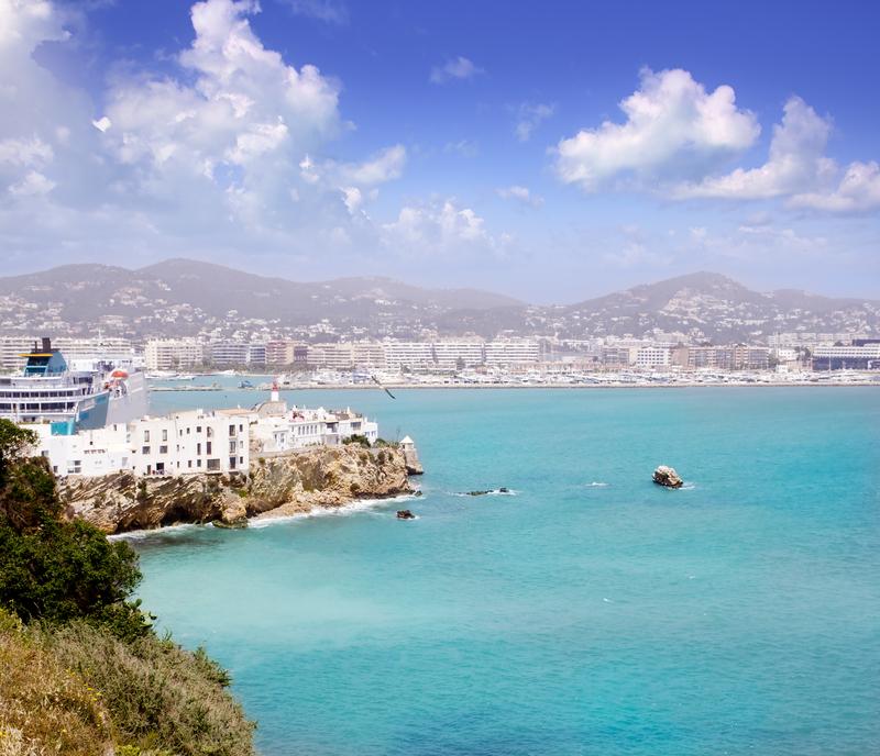 Nydelig bilde av Ibiza by.