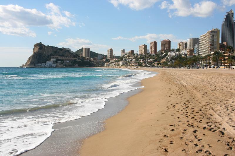 Stranden Playa Poniente i Benidorm
