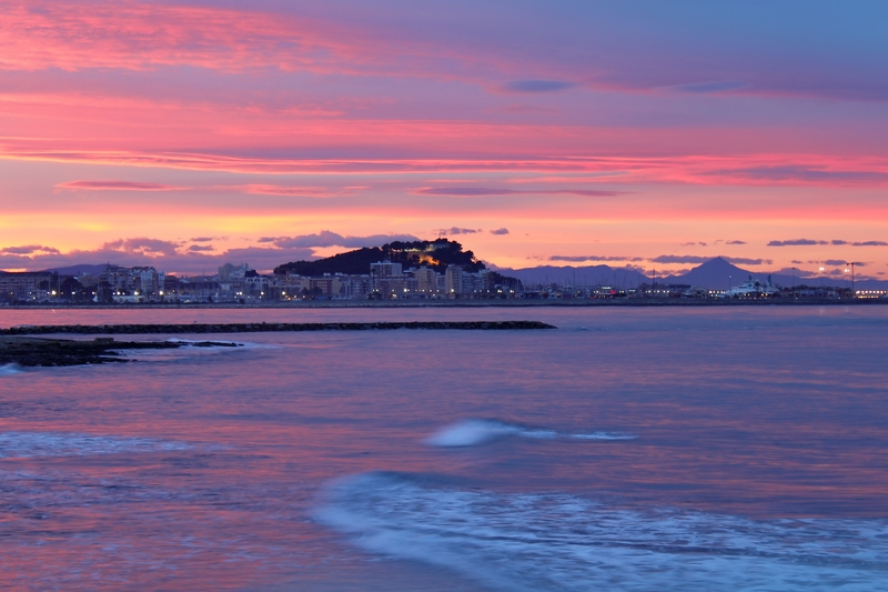 Nydelig solnedgang i Denia