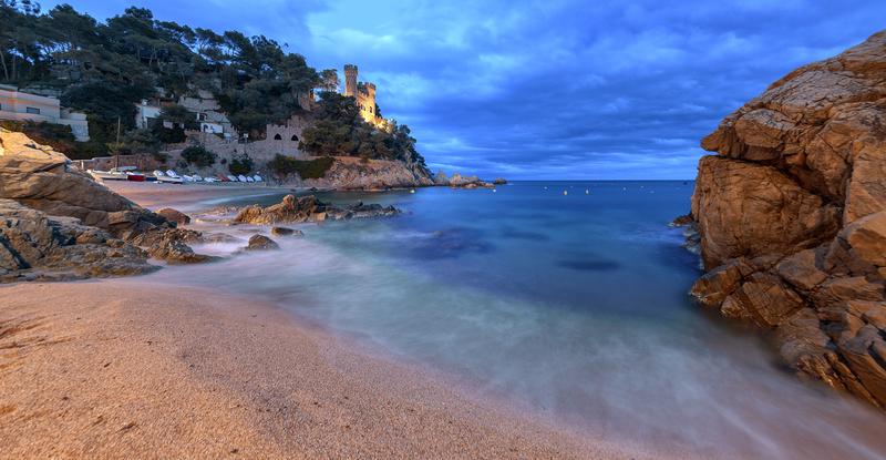 Nydelig bilde fra Lloret de Mar på Costa Brava.