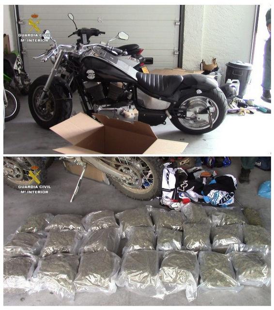 Det ble beslagt betydelige mengder narkotika fra mc-klubben Hell's Angels.