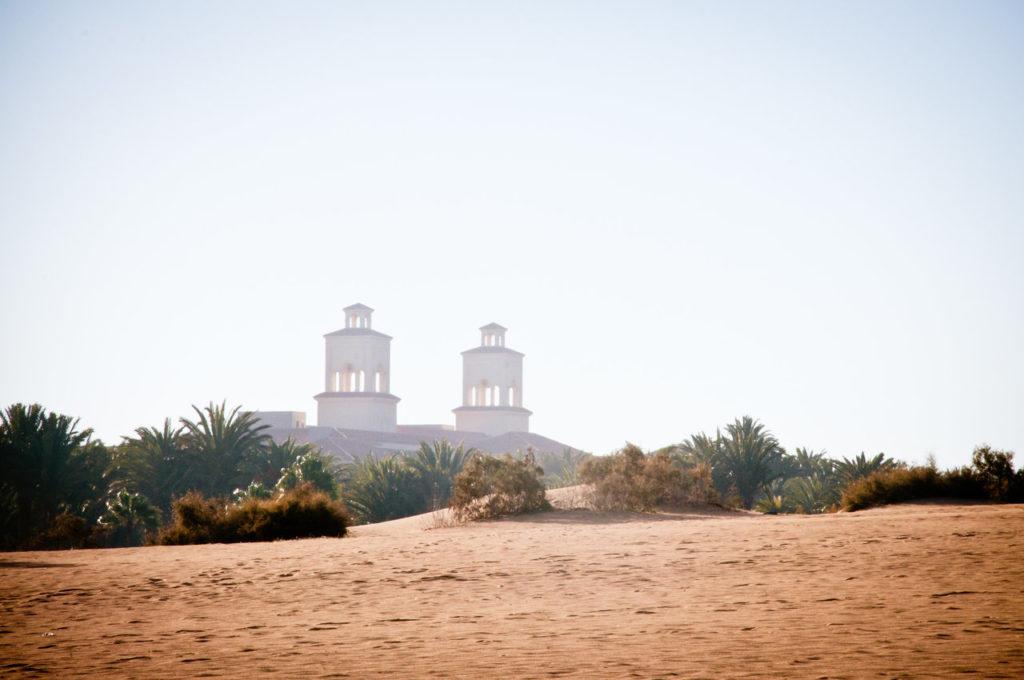 Ørkenområde på Gran Canaria.